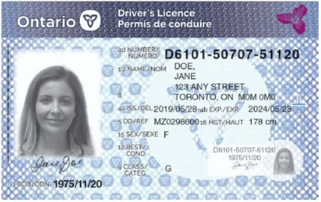 Canadian Driver License